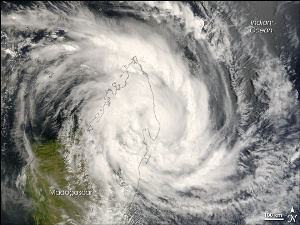 Cyclone Indlala over northeastern Madagascar, March 2007