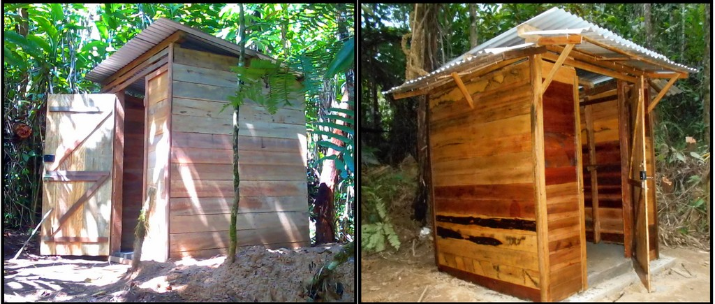 Toiletts and showers at camp Indri